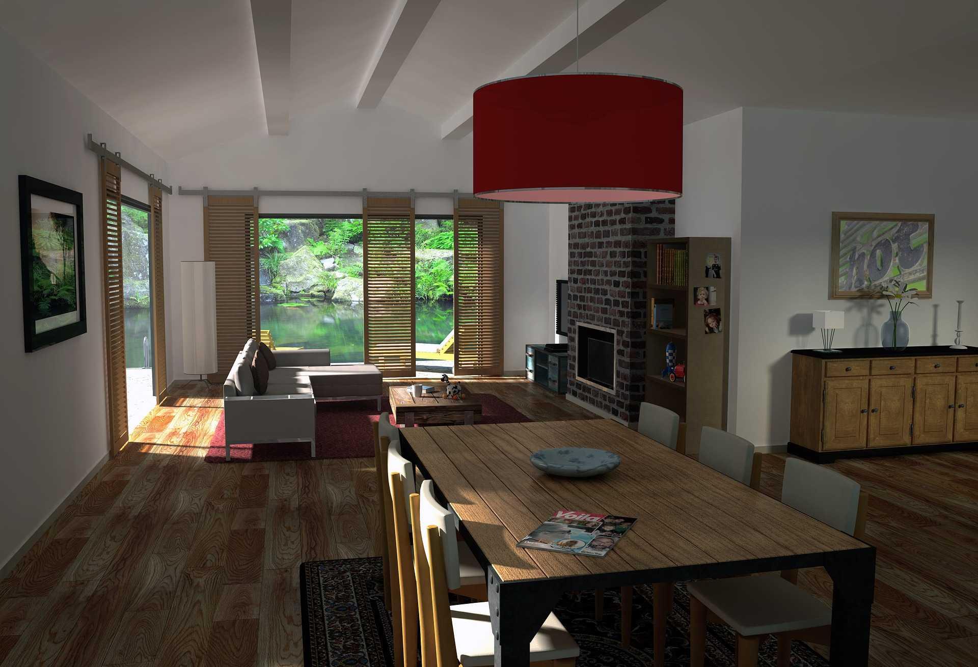 Jak zaplanować oświetlenie sufitowe salonu z otwartą kuchnią?